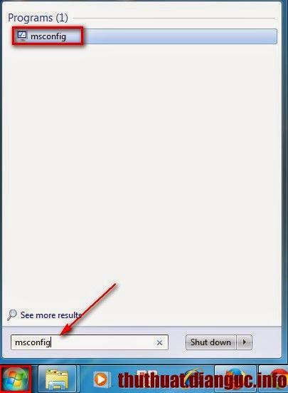 Cách gỡ bỏ các ứng dụng tự khởi động cùng Windows 7