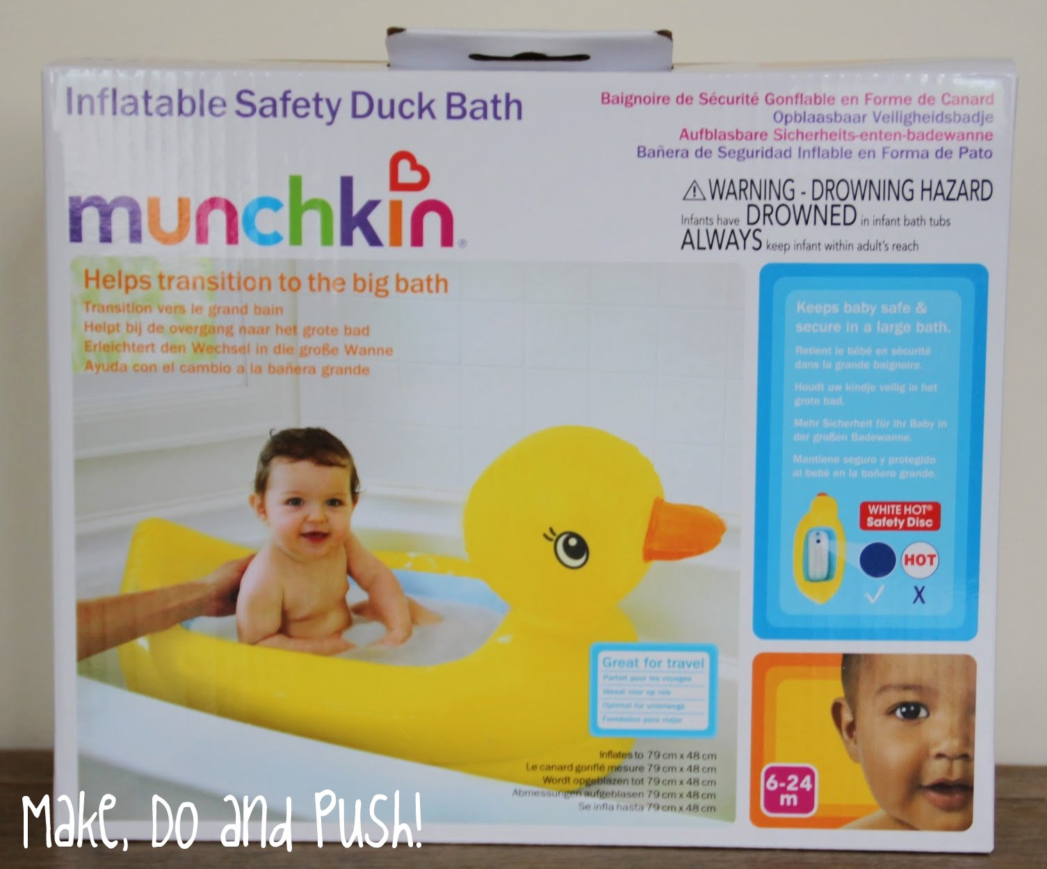 Review Munchkin White Hot Inflatable Duck Bath And Shampoo Rinser Make D