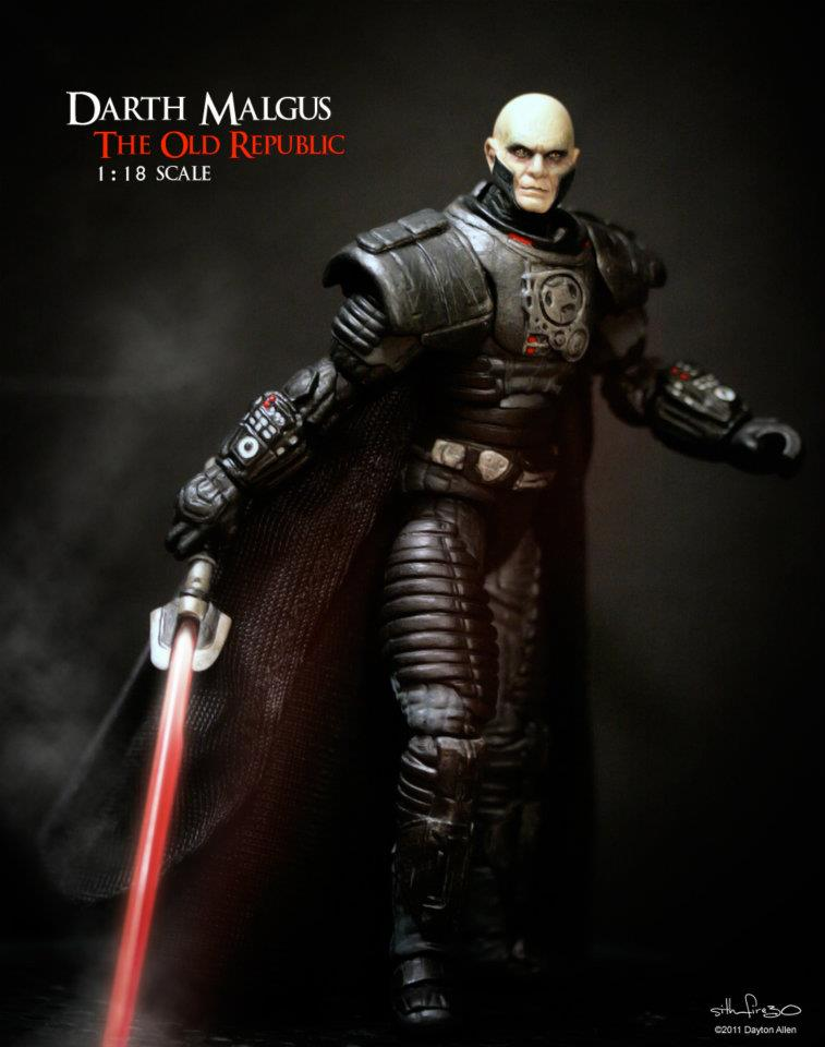 Star Wars Custom cardées Mini-figurine Darth Malgus figurine Kotor Old Republic