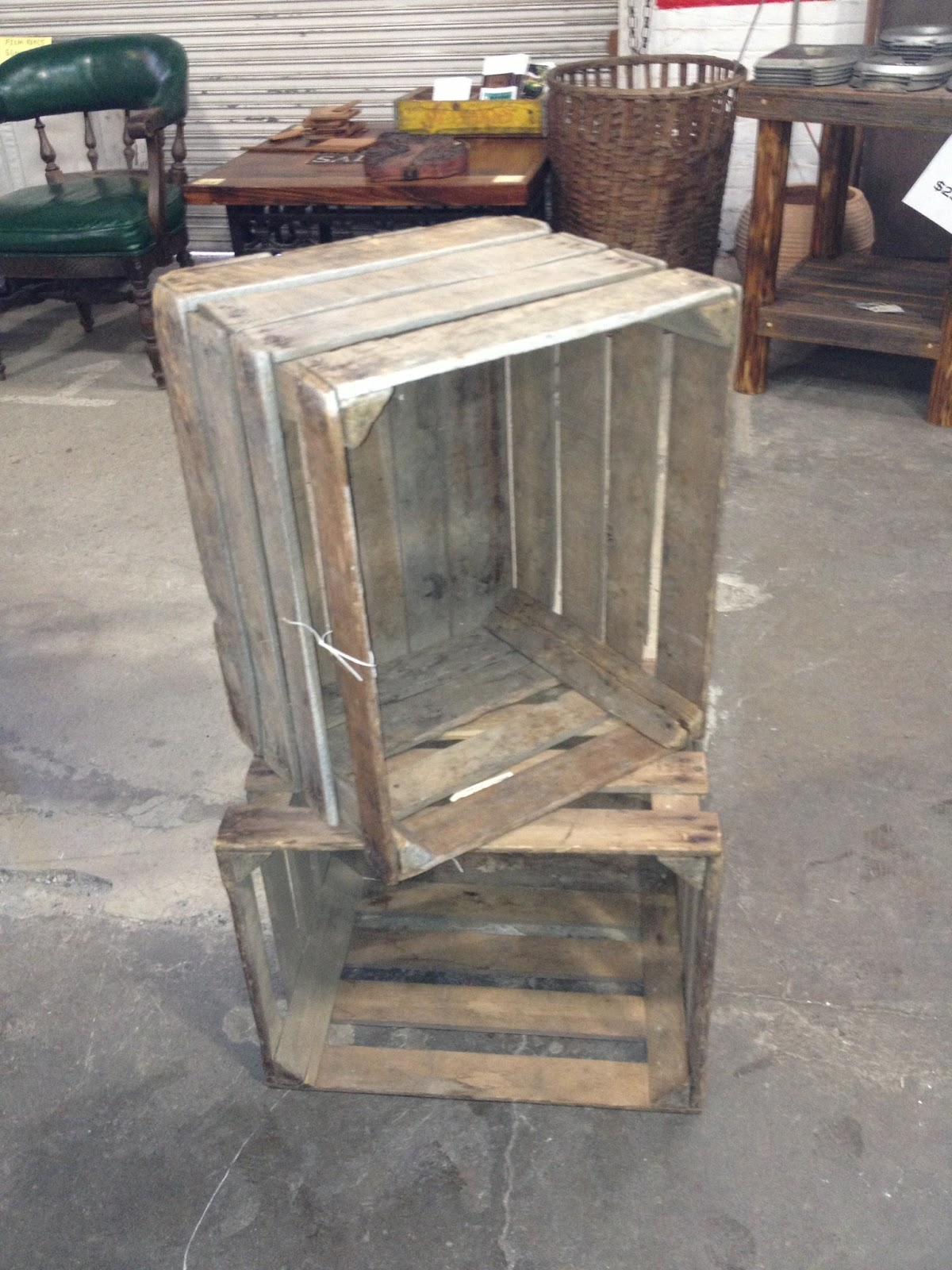 Black dog salvage architectural antiques custom for Apple crate furniture