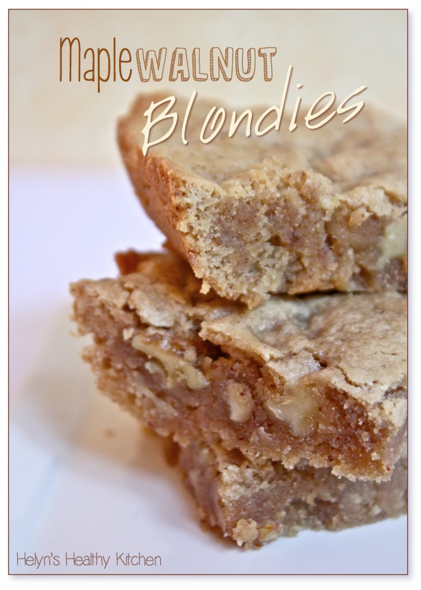 ... Healthy Kitchen: T.J.'s Maple Walnut Blondies. Veganized & Oil-free
