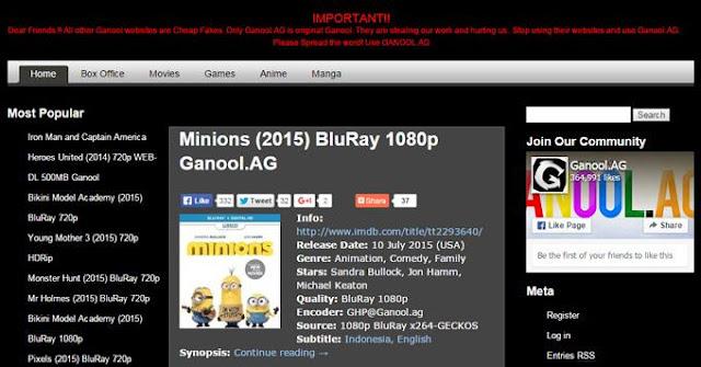 WOW! Ganool Buka Lagi Dengan Domain Baru