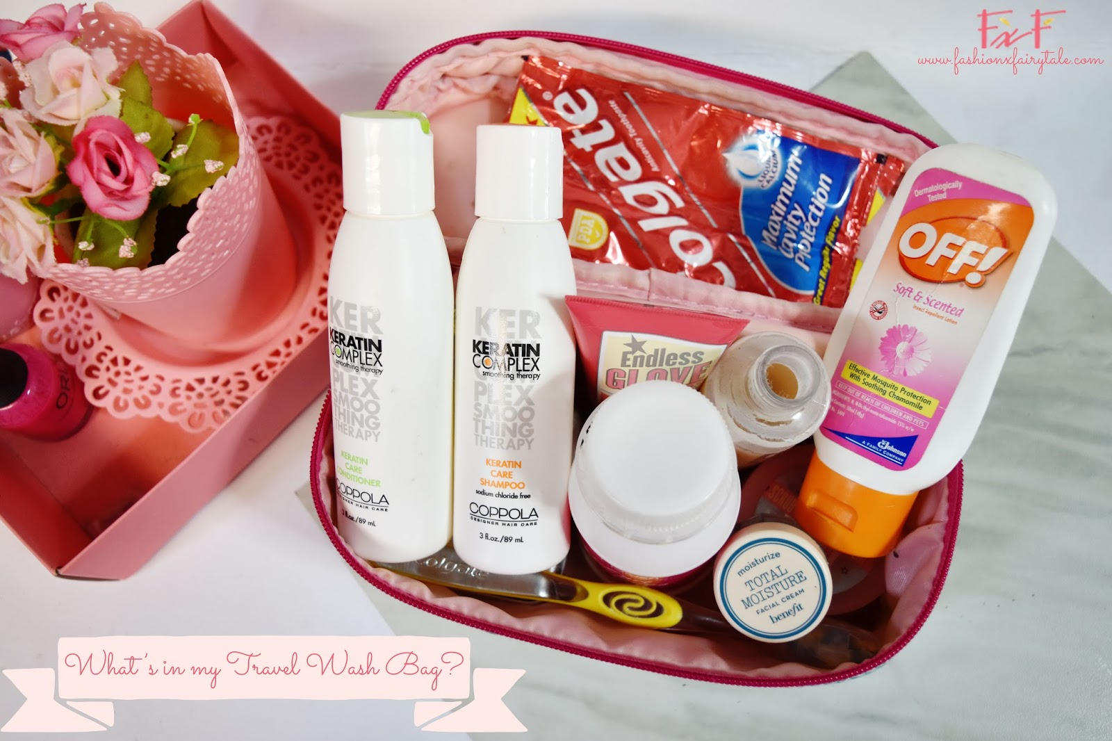 What's in my Travel Wash Bag?