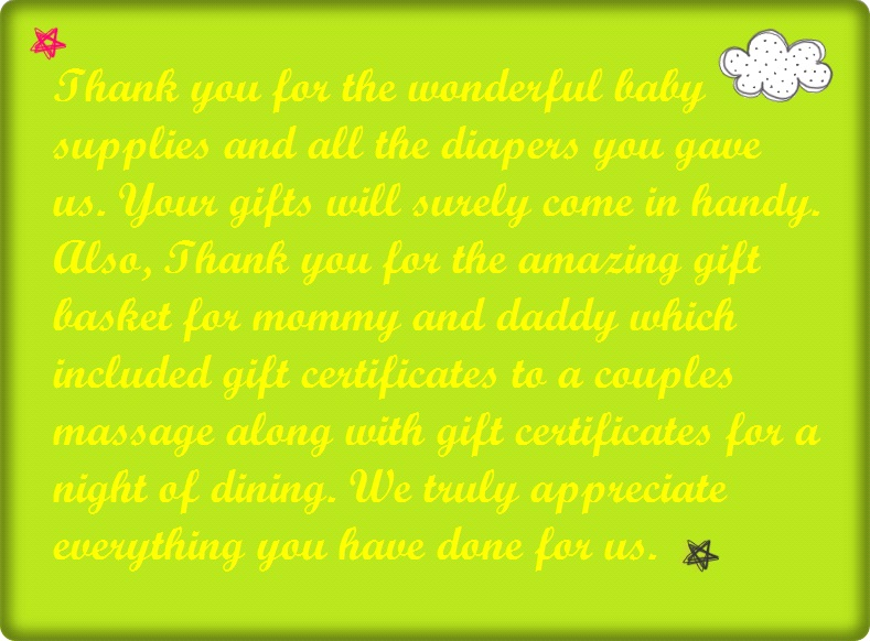 baby shower thank you wording poems and quotes cute instagram