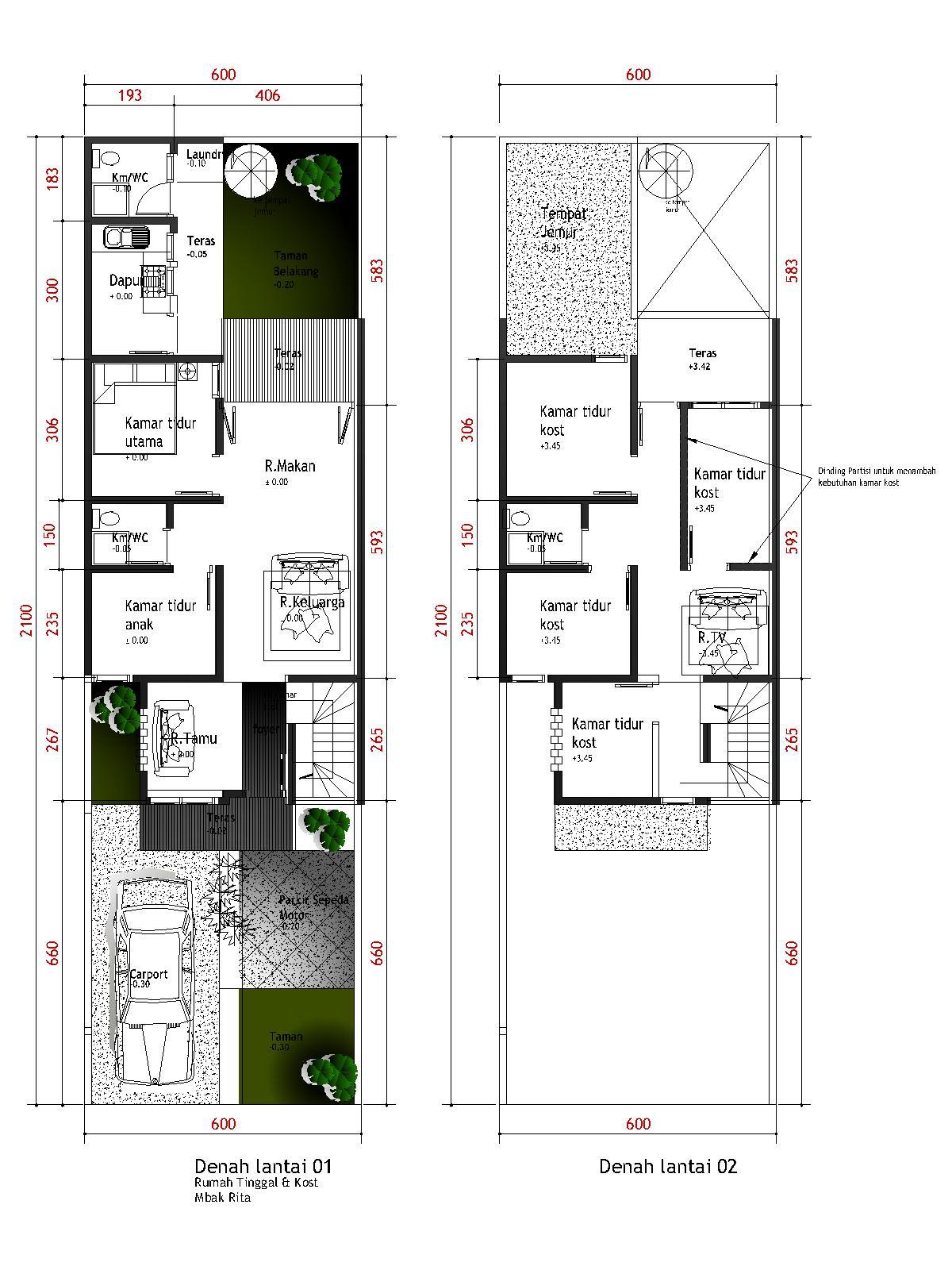 Desain Rumah Minimalis 2 Lantai Type 21 2016 Prathama Raghavan