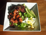 Grilled Avocado Cobb Salad with Apricot Dressing