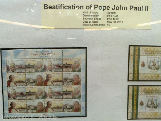 PhilPost Stamp for Beatification of Pope John Paul 2