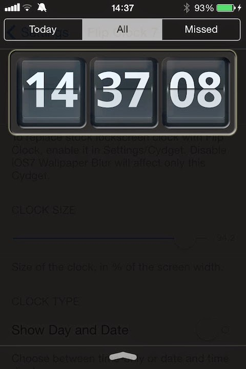 Modified FlipClock Lockscreen