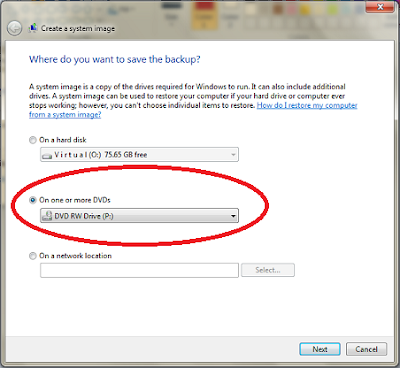 Create Windows 7 Recovery Disc