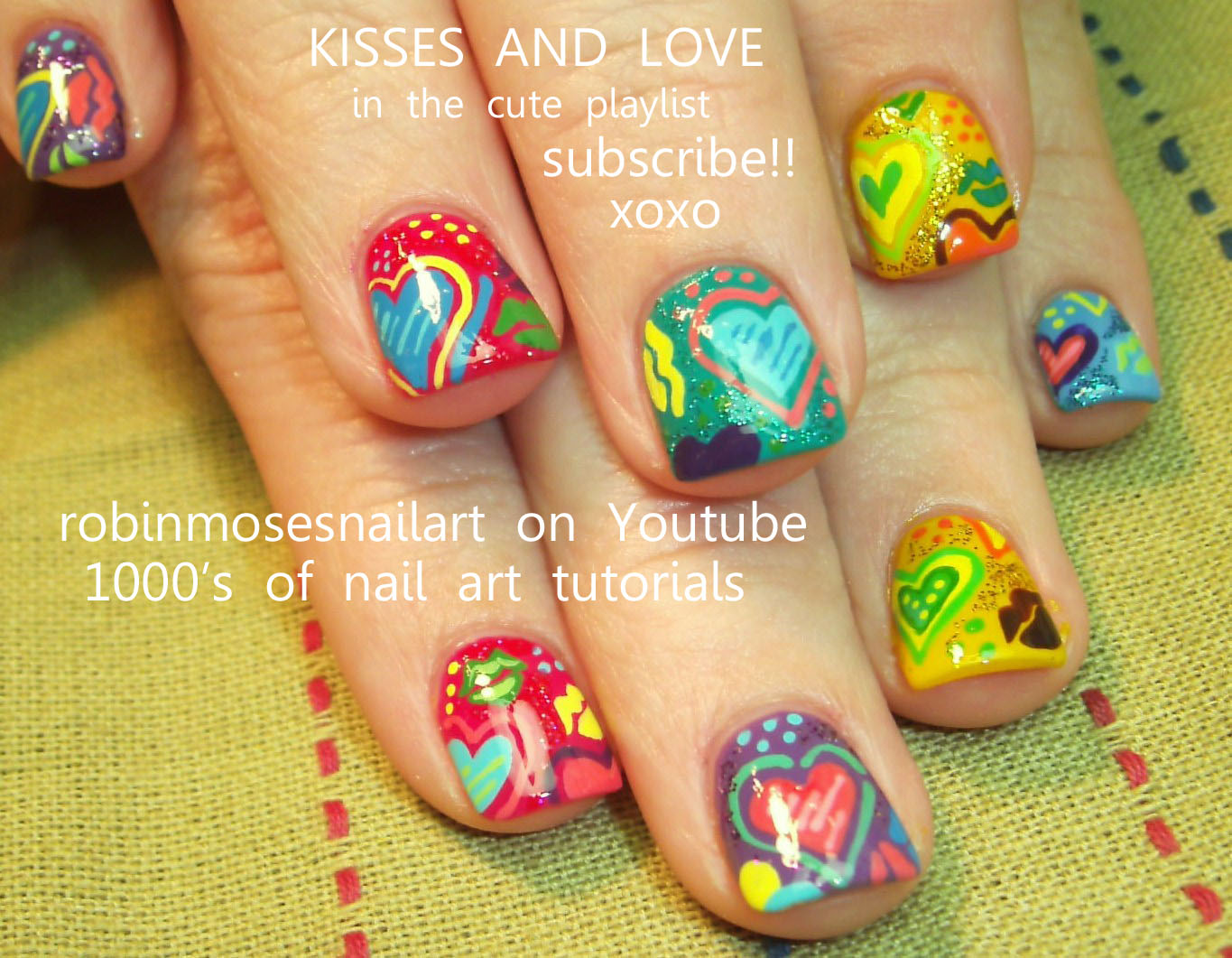 Fancy Colorful French Nail Art Designs Ornament - Coloring Page ...