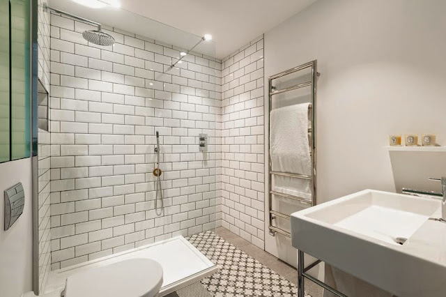 subway tiles in the bathroom