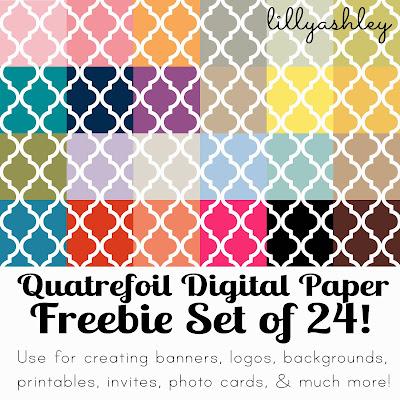Free Backgrounds Quatrefoil Printables Freebie