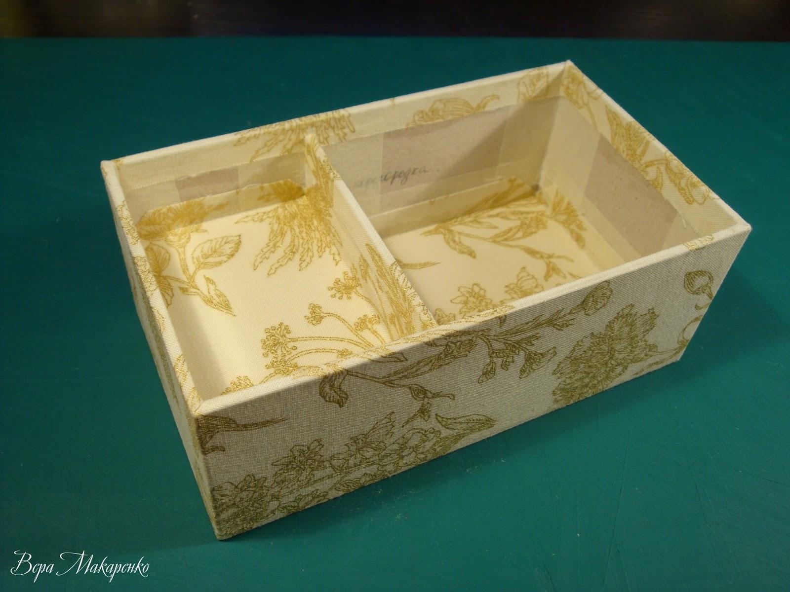 Как сделать своими руками шкатулку для украшений из коробки