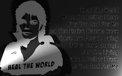 Heal The World - Michael Jackson Song Lyric Quote in Text Image