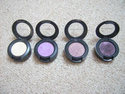 MAC eyeshadows Nylon, Stars 'n' rockets, Trax, Beauty marked