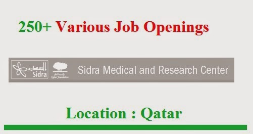Sidra Medical and Research Center | Job Openings | Qatar