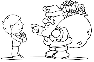 Free Santa Claus Printable Christmas Colouring Pages For Children