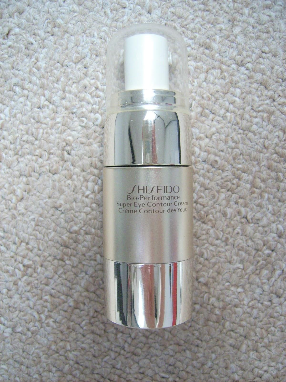 shiseido bio performance super eye contour cream, shiseido creme contour des yeux, crema de ochi shiseido