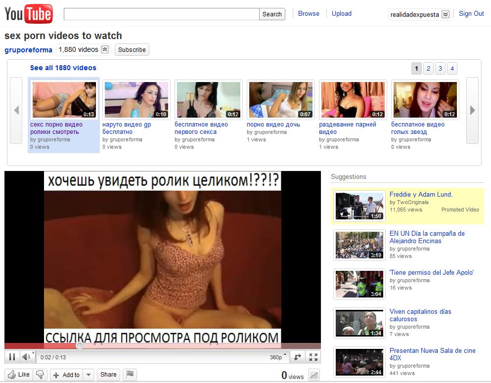 Porn tube like youtube