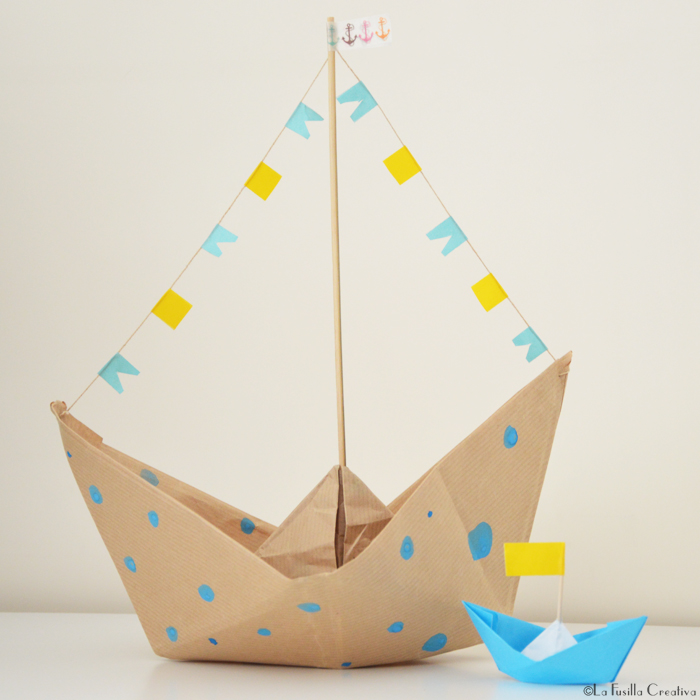 La Fusilla Creativa Barchette Origami Porta Snack