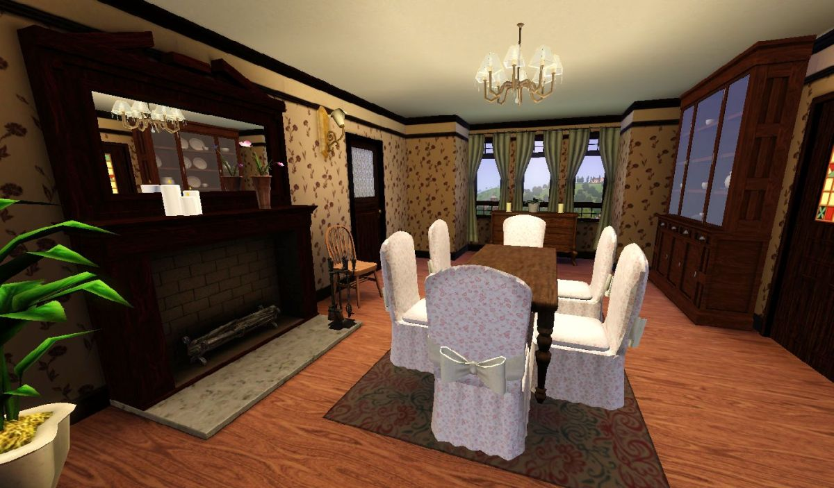 My sims 3 blog halliwell manor by heaven sent 8 18 for Sims 3 dining room ideas