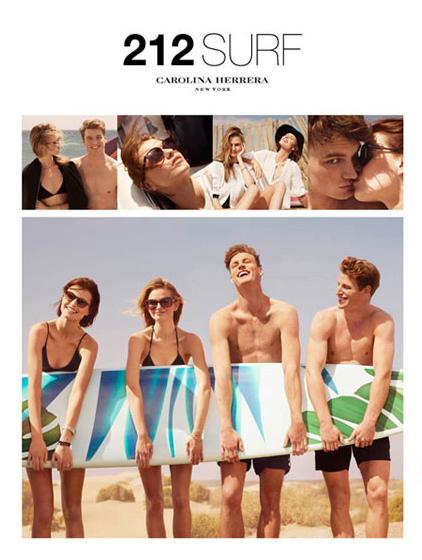 PUBLICIDAD CAROLINA HERRERA 212 MEN SURF