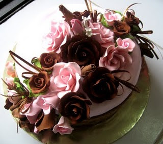 wedding flowers pink brown