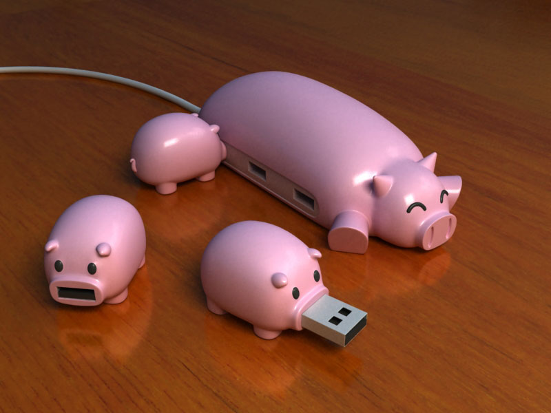 Flawed, Cracked ...But Rare!: Cuteness Overload: Pig Buddy