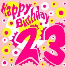 Открытка с днем рождения 23 года девушке 8