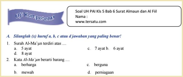 download kumpulan-bank-Soal-Soal UH PAI KTSP Kelas 5 Semester 2 2015
