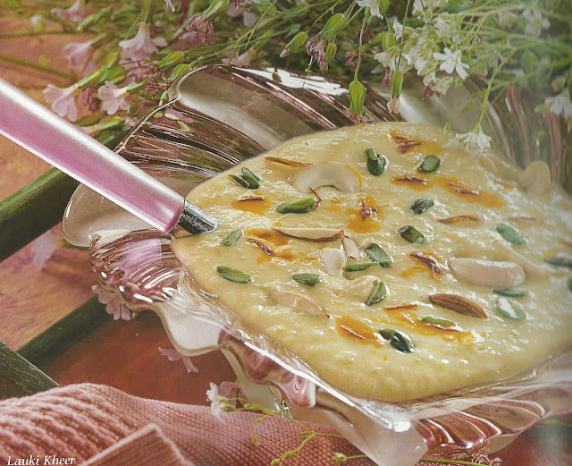 Lauki Kheer/Bottle Gourd and Milk Pudding in Microwave
