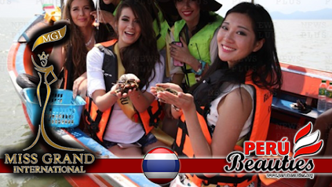 Miss Perú en diversas zonas turísticas de Trat - Miss Grand International 2015