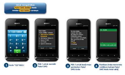 cara daftar paket SMS serba seribu XL