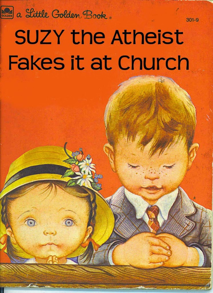 Funny Suzy The Atheist Fakes Church Children's Book Picture