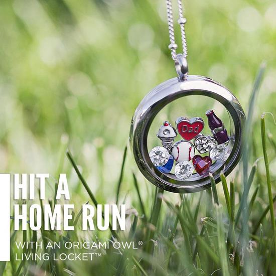 Hit A Home Run Baseball Origami Owl Living Locket from StoriedCharms.com