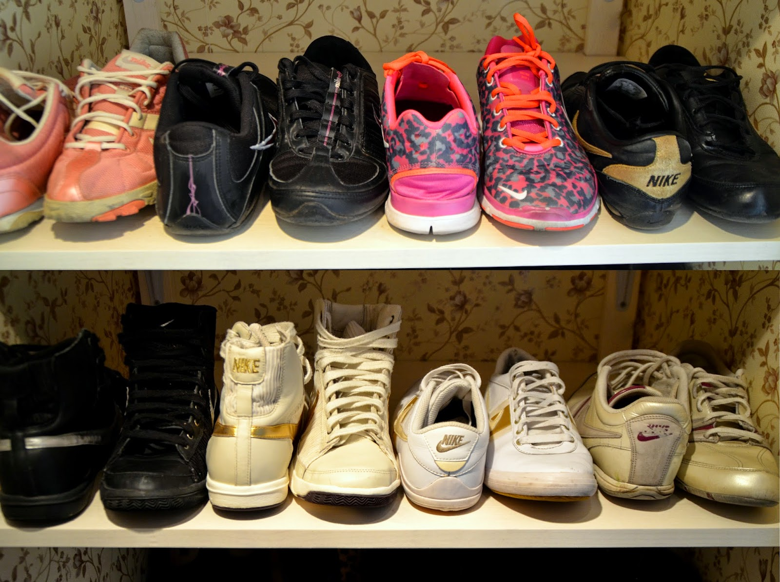 nike sneakers trainers walk in shoe closet inspiration