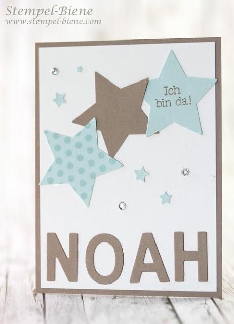 Karte zur Geburt; Geburt Junge; Babykarte stampin' Up; Stampinup Stempelparty; Vorteile Stampinup Demonstrator, Stampin Up bestellen