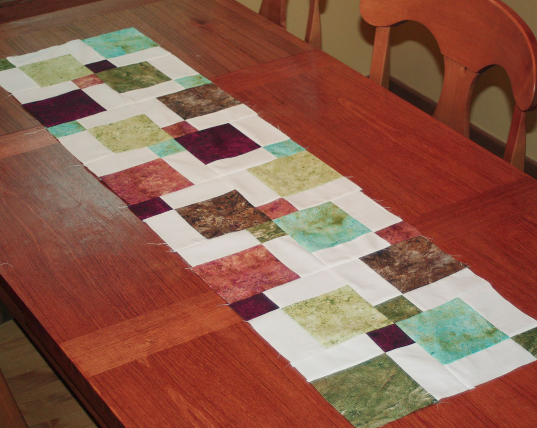 Inspired by Fabric: Disappearing Ninepatch Table Runner Tutorial