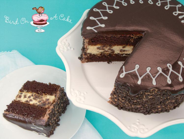 Bird On A Cake: Chocolate Chip Cheesecake Cake