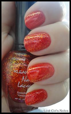 kleancolor chunky holo poppy nail polish
