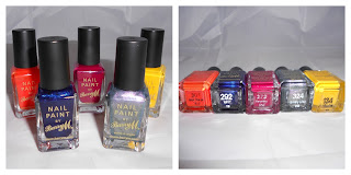 Collection of Barry M nail varnishes
