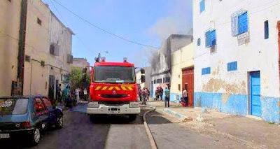 النيران تشب في مصنع للجوارب بالدار البيضاء
