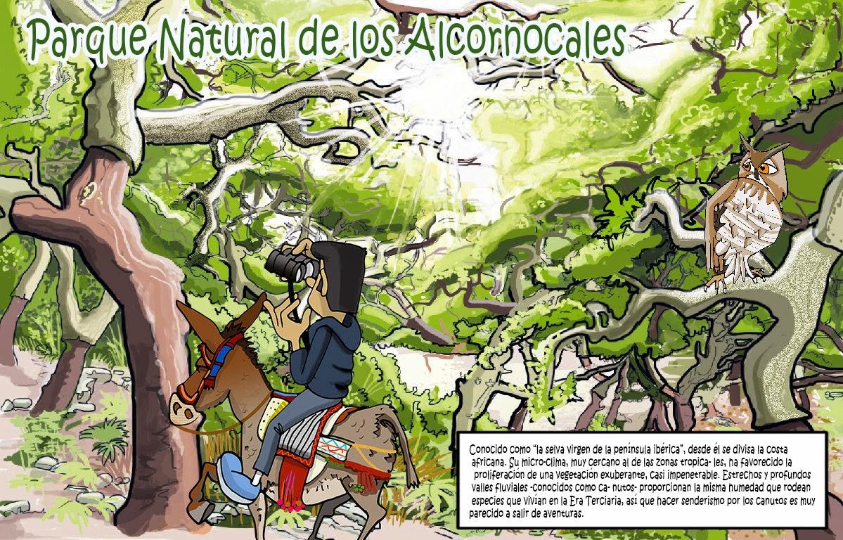 """<img src=""""Los Alcornocales.jpg"""" alt=""""ilustraciones de parques naturales""""/>"""