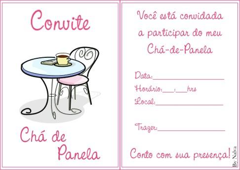 Convites De Ch Cozinha Panela Ii
