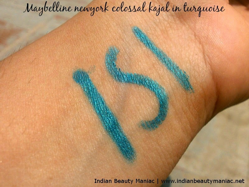 Maybelline Colossal Kohl in Turquoise swatch
