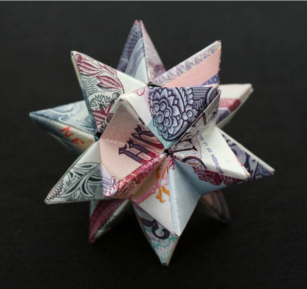 Wonderful Geometric Shapes Made from Currency