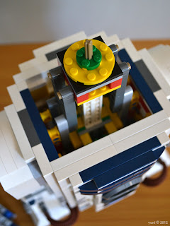 lego r2d2 - the head spinning rig and internal mechanism