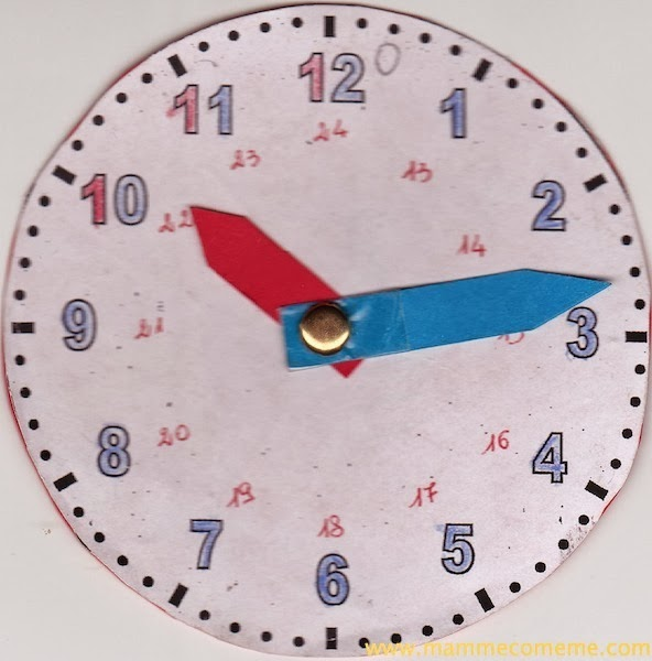 Estremamente Mamme come me: Insegnare a leggere l'orologio ai bambini JQ35