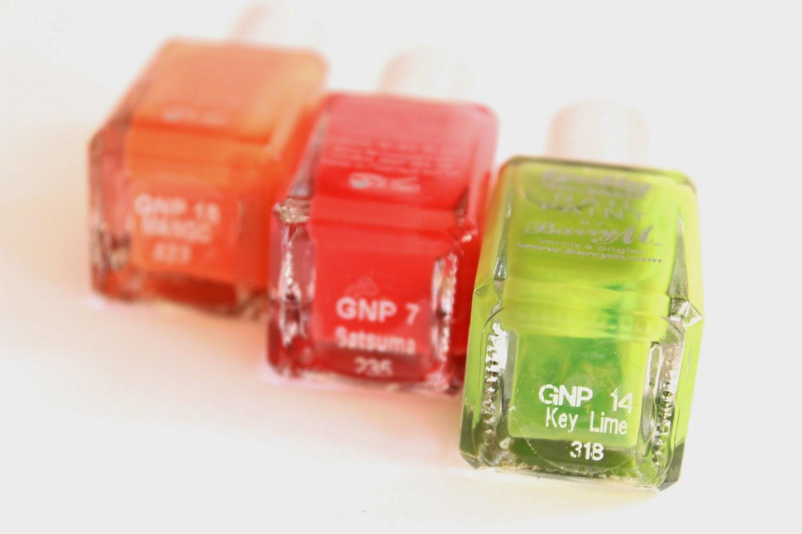 review ervaring swatches barry m hi-shine nail paint mango satsuma key lime