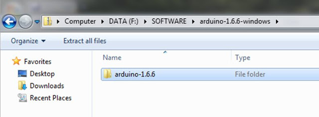 Ekstract file download arduino
